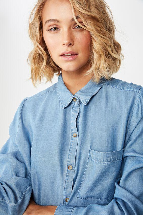 Rebecca Shirt, MID BLUE
