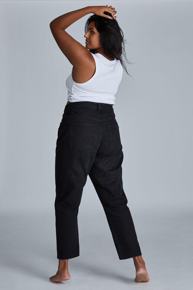Curve Mom Jean, MIDNIGHT BLACK