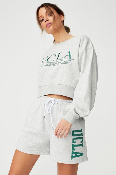 Collab Classic Cropped Crew, LCN LIGHT GREY MARLE/UCLA