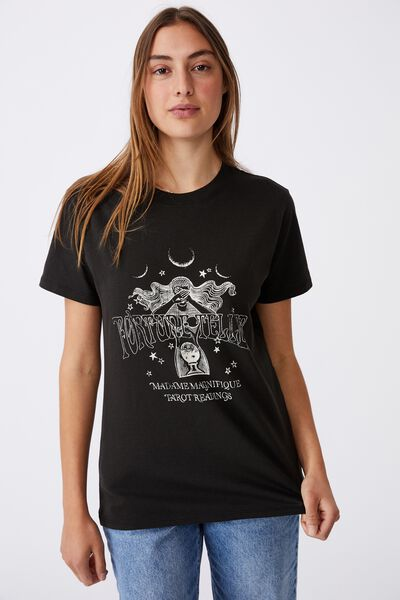 Classic Arts T Shirt, FORTUNE TELLER/WASHED BLACK
