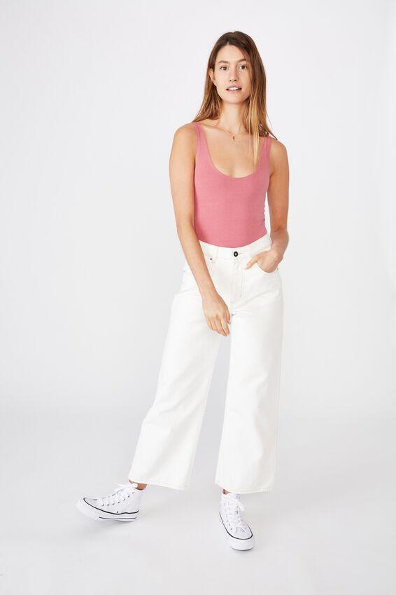 The Everyday Scoop Bodysuit, ROSE WINE