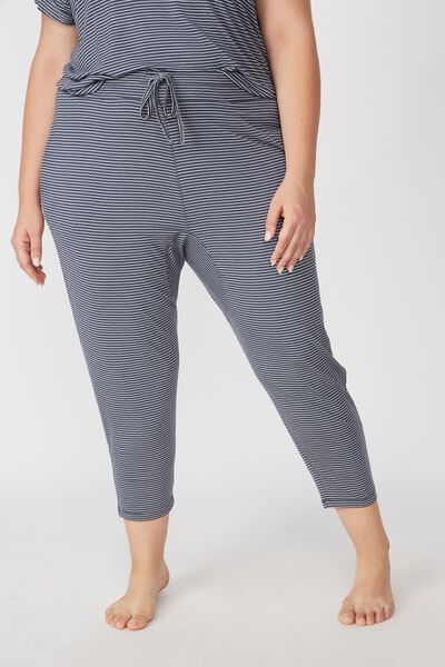 Curve Sleep Recovery Drop Crotch Pant, THIN IRON STRIPE