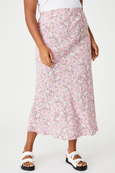 Curve All Day Slip Skirt, DIANE FLORAL PINK CHERRY BLOSSOM