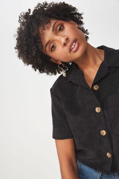 Macie Shirt, BLACK CORD