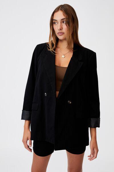 The Oversized Blazer, BLACK