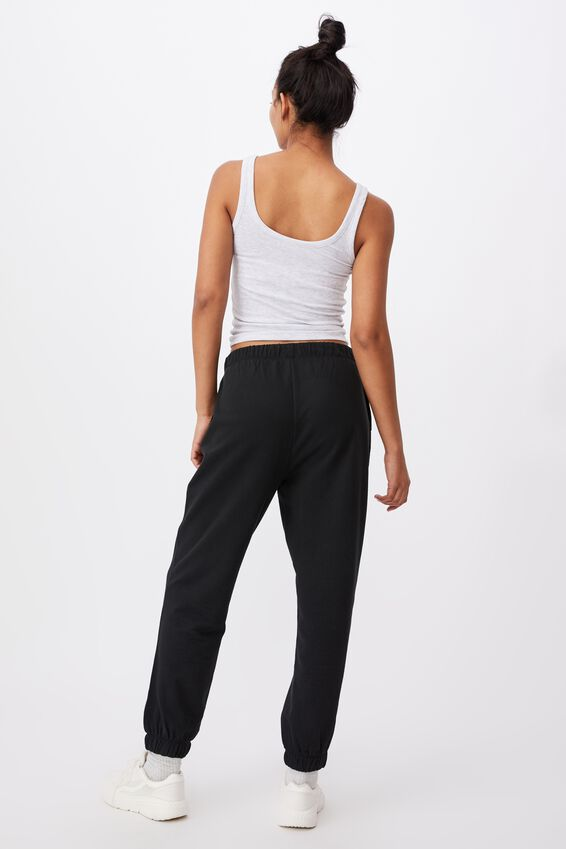 High Waist Track Pant, WASHED BLACK