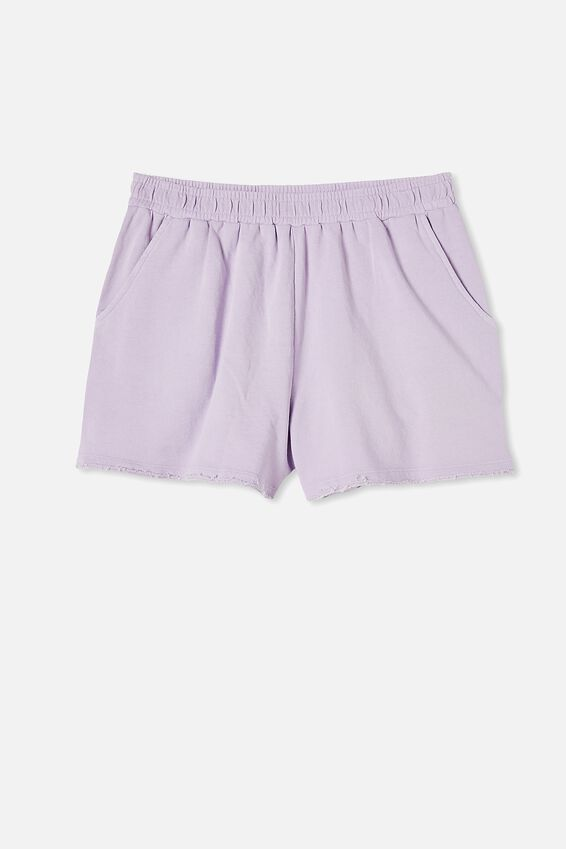 90S Sweat Short, SOFT LILAC GARMENT PIGMENT DYE