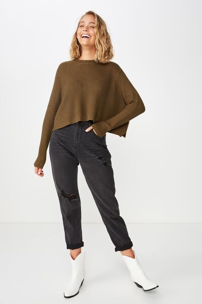 Archy Cropped 2 Pullover, BEECH