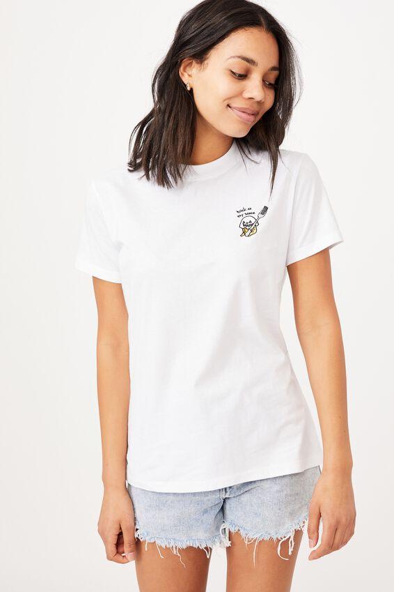 Classic Pop Culture T Shirt, LCN SAN GUDETAMA TRICK/WHITE