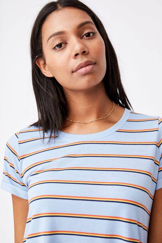 Tina Tshirt Dress 2, DOLORES STRIPE AUTHENTIC BLUE