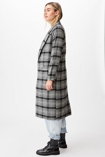 The Oversized Coat, BLACK & WHITE CHECK