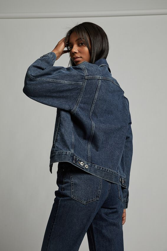 The Oversized Denim Jacket, SOUTHSIDE BLUE