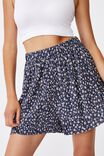 Pleated Skater Short, SUSIE DITSY MIDNIGHT FESTIVAL
