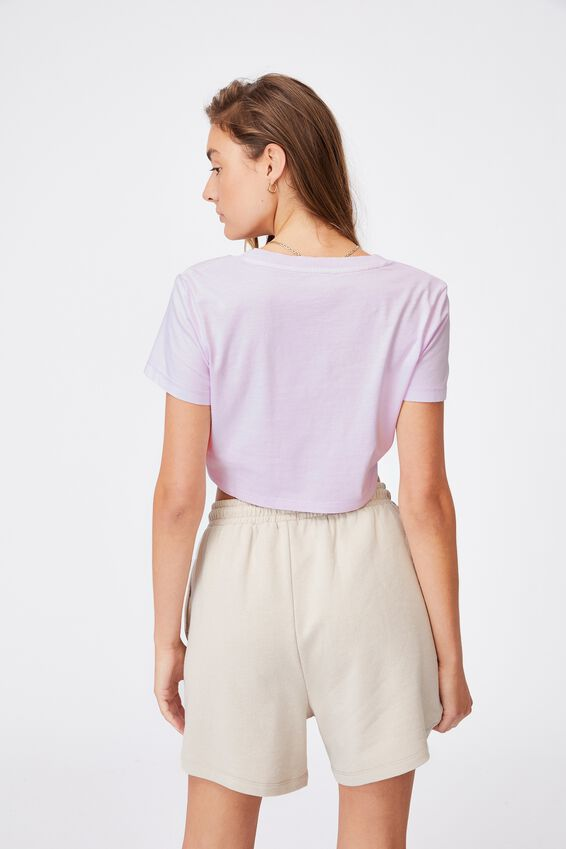 V Notch Tee, WASHED POWDER LILAC