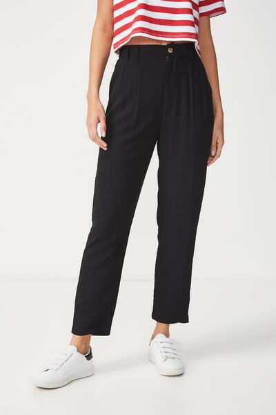 Abi High Waist Pant, SOLID BLACK