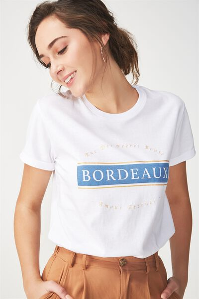 Tbar Fox Graphic T Shirt, BORDEAUX/WHITE