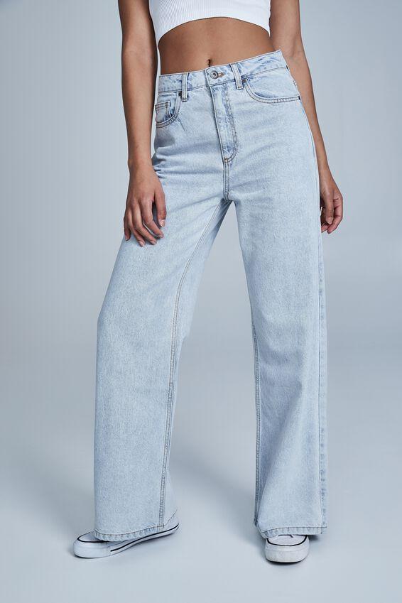 Long Wide Leg Jean, HENLEY BLUE