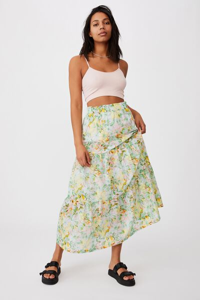 Float On Maxi Skirt, SHARNA FLORAL MULTI