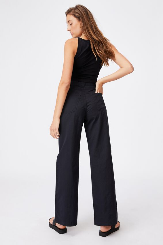 Parker Long Straight Pant, BLACK