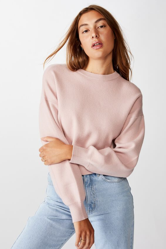 Chloe Crew Luxe Pullover, BURNISHED LILAC