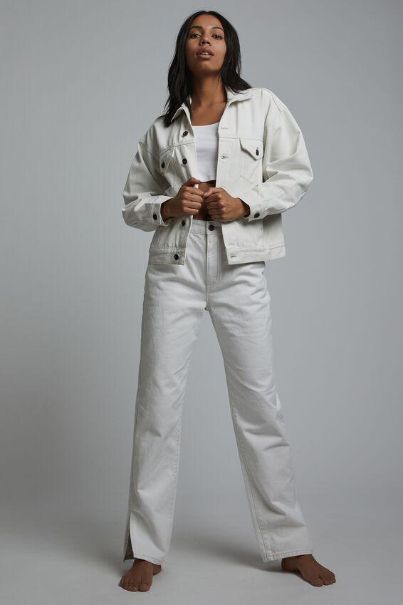 Ultimate Oversized Denim Jacket, WHITE HAVEN