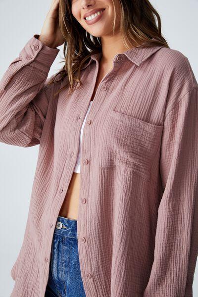 Savannah Oversized Shirt, ZEPHYR