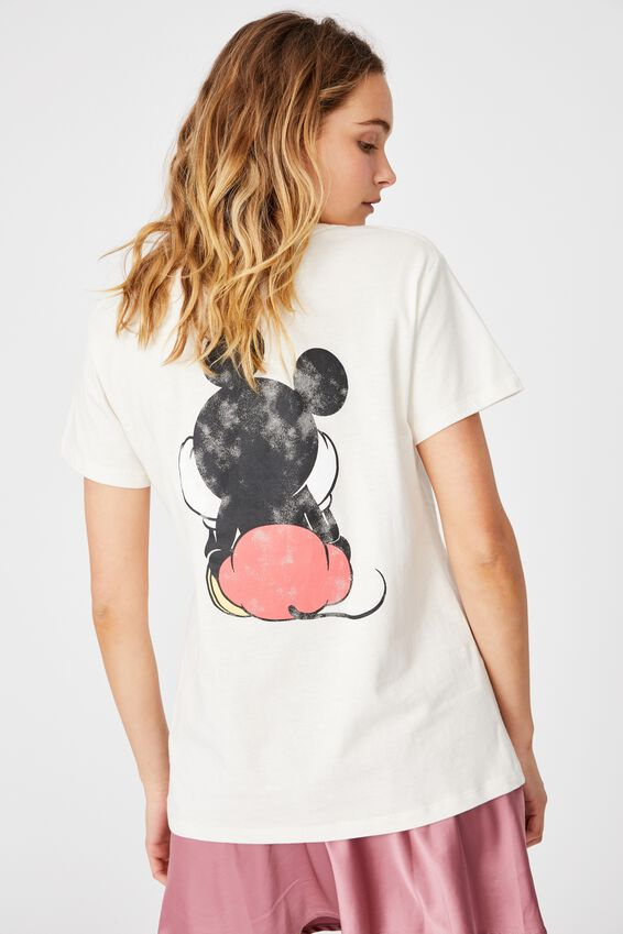Classic Mickey Front & Back T Shirt, LCN DIS MICKEY FRONT AND BACK/GARDENIA