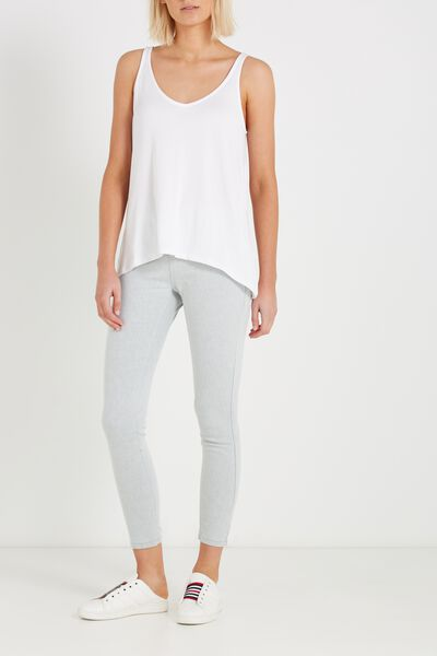Mid Rise Jegging, BLEACH GREY