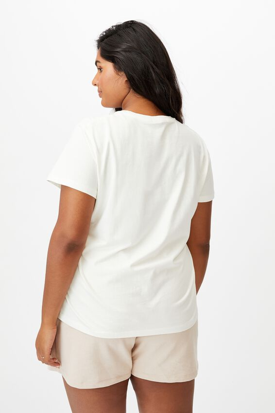 Curve Graphic Tee, LOVE YOUR MOTHER/GARDENIA