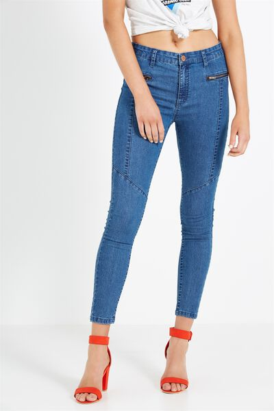 Mid Rise Deluxe Skinny Jean 2, VERTICAL/MID BLUE B