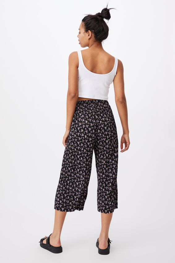 Poppy Pleated Pant, PEGGY DITSY BLACK