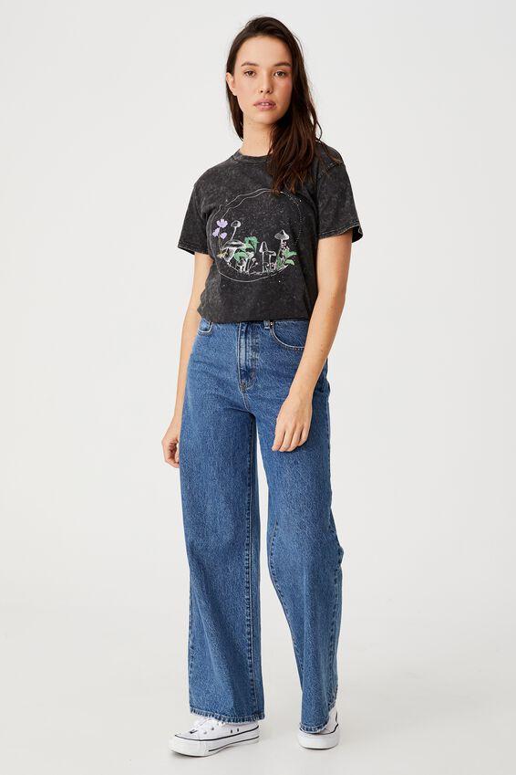 Classic Arts T Shirt, MUSHROOM MOON/BLACK