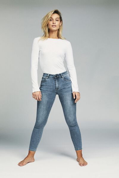 Mid Rise Grazer Skinny Jean, CORE BLUE
