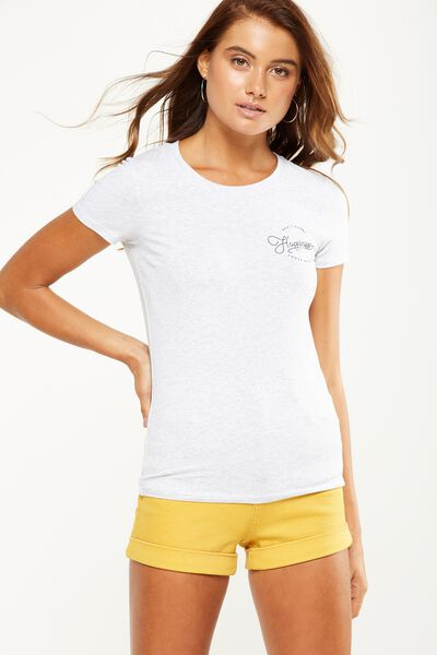Tbar Hero Graphic T Shirt, HAPPINESS/SILVER MARLE