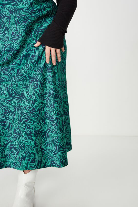 Curve Drape Skirt, ANNA ANIMAL NAVY