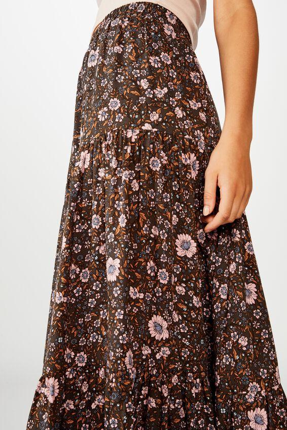 Jasmine Maxi Skirt, JORDYN FLORAL RAVEN