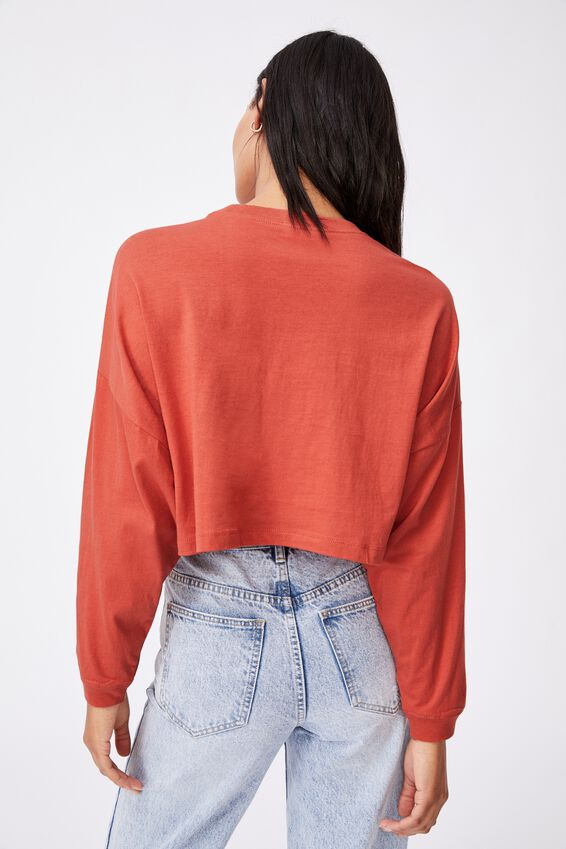 Kyle Batwing Long Sleeve Top, RED CLAY