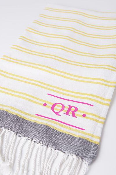 Tolve Turkish Towel, YELLOW BRETON