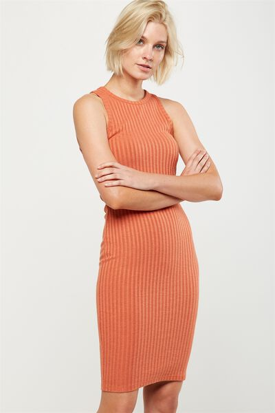 Lena Midi Dress, BURNT SIENNA TWIST
