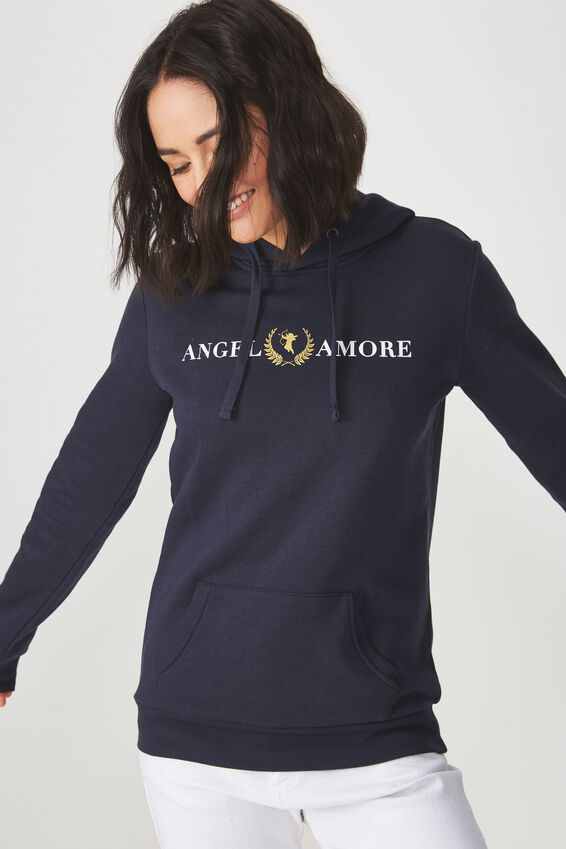 Delevingne Graphic Hoodie, ANGEL AMORE/MOONLIGHT