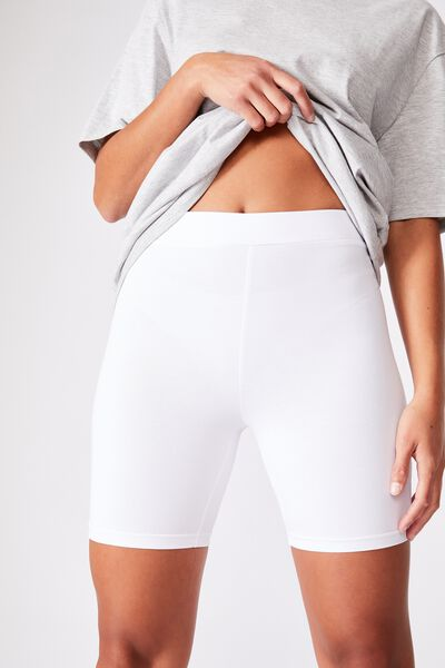 The Pip Jersey Bike Shorts, WHITE