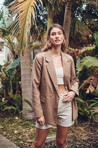 Slouch Blazer, NATURAL