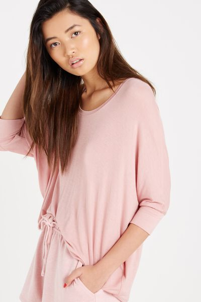 Bianca Long Sleeve Top, PINK BLOSSOM