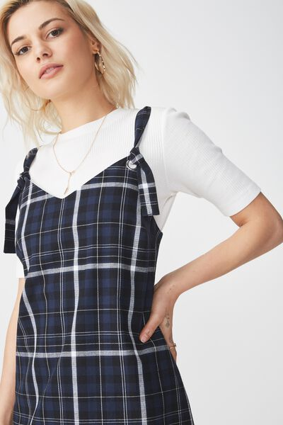 Woven Franco Check Midi Dress, SADE CHECK