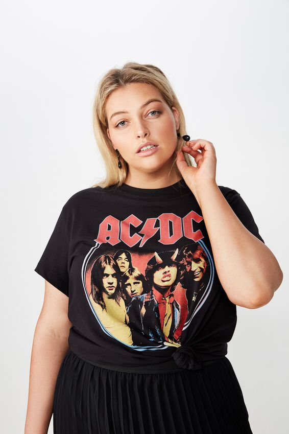 Curve Graphic License Tee, LCN PR ACDC BAND/BLACK