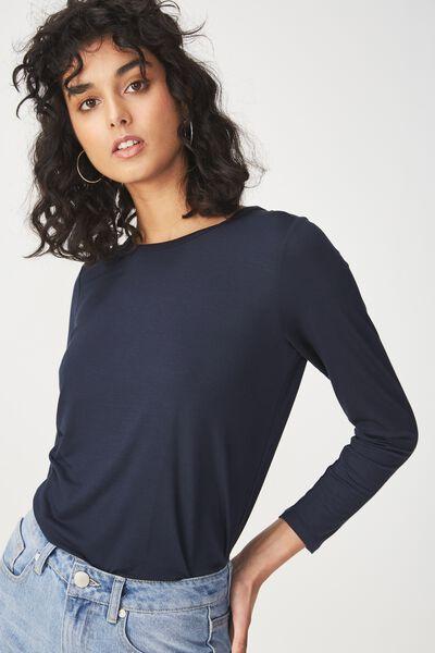 Kathleen Long Sleeve Top, MOONLIGHT