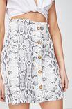 Woven Halle Mini Skirt, BECCA SNAKE