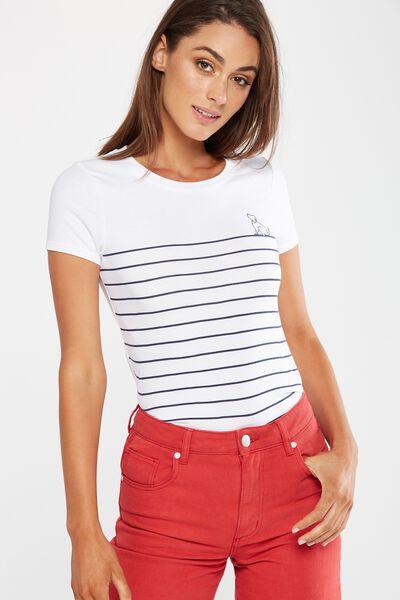 Tbar Hero Graphic T Shirt, BEST FRIEND STRIPE/WHITE