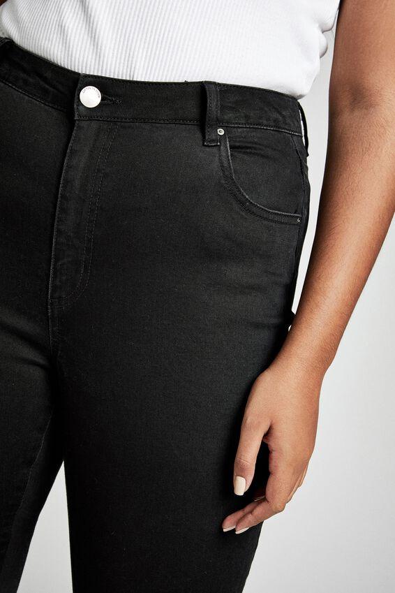 Curve Adrianna Full Skinny High Jean, BLACK