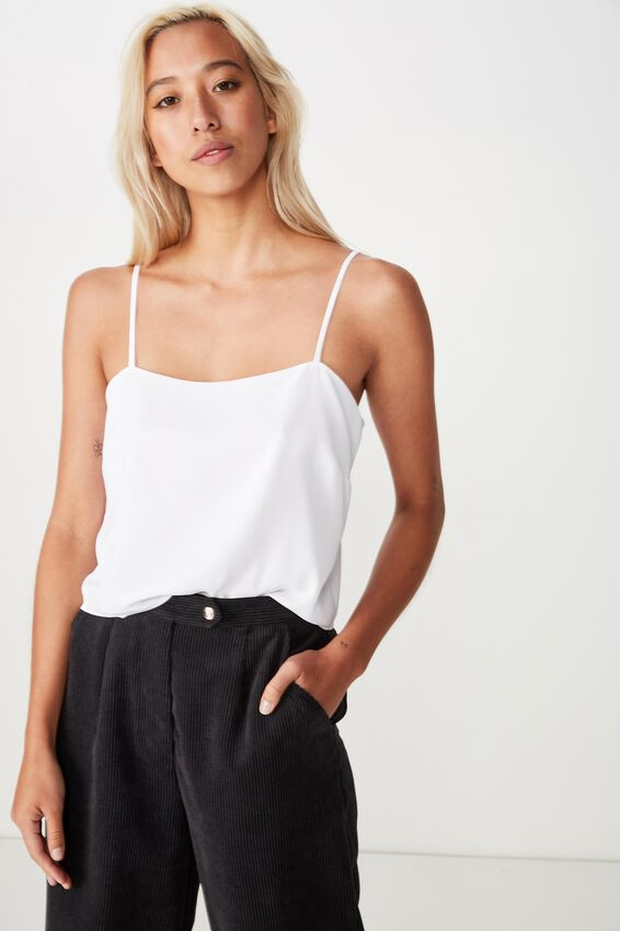 Pippa Chopped Cami, WHITE